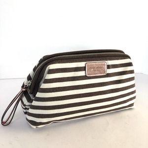 Henri Bendel Large Canvas Stripe Cosmetic Bag